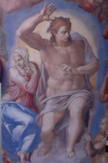 Christus-Richter-Erlöser-Michelangelo-SixtinischeKapelle-Foto am 05.04.15
